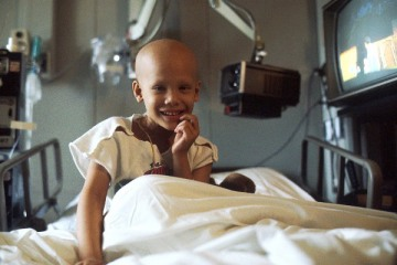 Child receiving chemo treatment