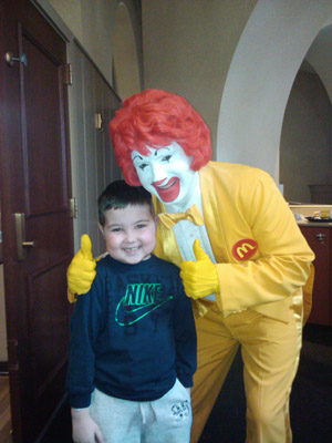 Christopher Court with Ronald McDonald