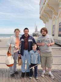 Christopher Court with his family in Atlantic City